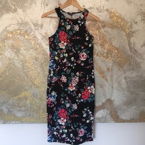 Floral Body Contour Dress